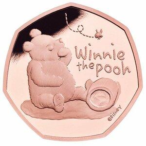 【貴重】くまのプーさんゴールドコイン 全世界で525枚のみの貴重な品。今回特別にシルバーコインもセットします。