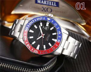 最高級★極上逸品!腕時計 SIERUO メンズ 男性 防水 耐衝撃 日付 クォーツ式 クロノグラフ 多機能 豪華 ビジネス 7色選択可 01