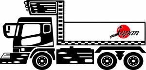 JAPAN ステッカー 日の丸 旭日旗 旧車會 走り屋 トレーラー デコトラ トラック アンドン デコトラ ダンプ 工具箱 暴走族 ドリフト族 C75
