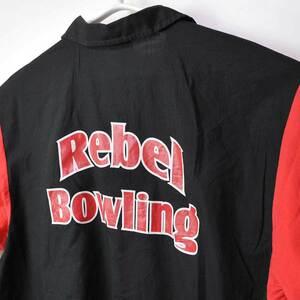 古着●ヒルトン ボウリングシャツ レベル ボウリング L 襟に内部からの繊維付着 xwp