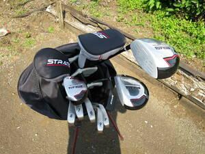 Callaway傘下 ストラータ STRATA ゴルフクラブ 本格セット 初心者 男性右利き用 スタンド式キャディバッグ付き