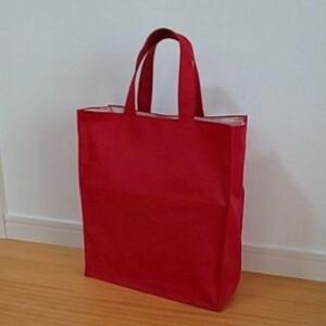 5# ハンドメイド 帆布 紙袋風 ハンドバッグ トートバッグ