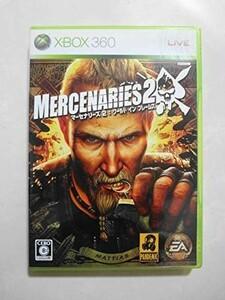 送料無料 即決 マイクロソフト XBOX 360 マーセナリーズ 2 ワールド イン フレームス アクション EA レトロ ゲーム ソフト Y157