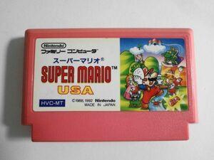送料無料 即決 使用感あり 任天堂 ファミコン FC スーパーマリオ USA Super Mario アクション 人気 シリーズ レトロ ゲーム ソフト Y80