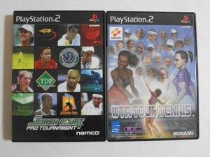 送料無料 即決 ソニー sony プレイステーション2 PS2 プレステ2 WTA ツアーテニス スマッシュコート プロトーナメント セット ゲーム Y320