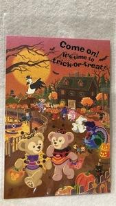 東京ディズニーシー ハロウィーン2012 ダッフィー シェリーメイ ポストカード 新品 未使用品