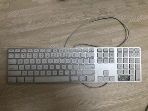 ジャンク品 Apple Mac純正USキーボード A1243