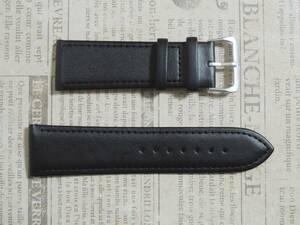 ●幅24mm 黒 腕時計ベルト 格上