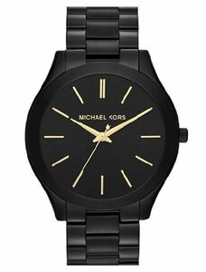 MICHAEL KORS マイケルコース MK3221 Slim Runway Black スリム ブラック×ゴールド レディース 腕時計