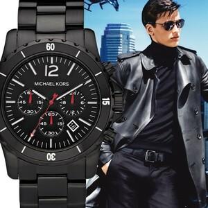 MICHAEL KORS マイケルコース Madison MK8161 ブラック イオン クロノグラフ メンズ 腕時計