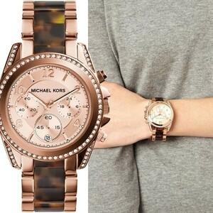MICHAEL KORS マイケルコース MK5859 Blair ブレア ローズゴールド タートイズ レディース 腕時計