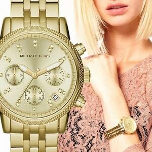 MICHAEL KORS マイケルコース Ritz Gold ゴールド クロノグラフ レディース 腕時計 MK5676