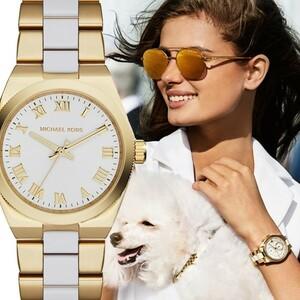 MICHAEL KORS[マイケルコース] Channing ホワイト/ゴールド ミディアム MK6122 Two Tone レディース 腕時計