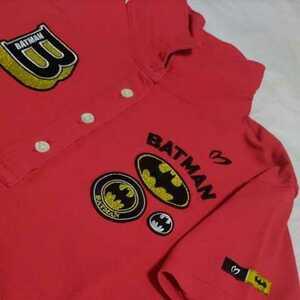 美品正規品 マスターバニー パーリーゲイツ サイズ1 バットマン コラボ アイスコットン 冷感 高機能 ポロシャツ 送料無料