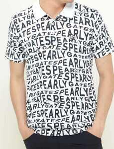 新品正規品 パーリーゲイツ サイズ4 最新作 21夏モデル 高機能ドライマスターエイトロック素材 ポロシャツ 総柄 送料無料