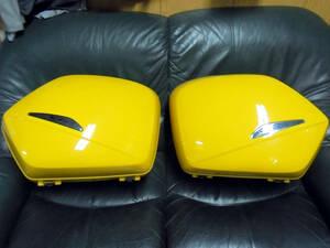 VFR800 RC46後期 ホンダ純正 パニアケース左右+ブラケット セット 黄色 中古