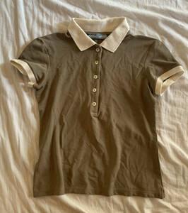 PRADA◆ポロシャツ/40 ブラウン シャツ 保管品