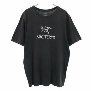 アークテリクス ロゴ プリント 半袖 Tシャツ M 黒 ARC'TERYX アウトドア メンズ 210521 メール便可