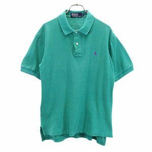 ポロラルフローレン ナイガイ社製 ワンポイントロゴ 半袖 ポロシャツ L 緑 POLO RALPH LAUREN メンズ 210626 メール便可