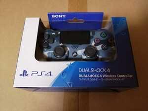 新品 PS4 ワイヤレスコントローラー DUALSHOCK 4 ブルー・カモフラージュ