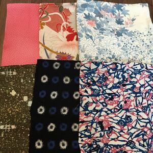 古布 リメイク 着物のハギレ 6種類セット