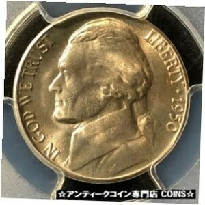 金貨 銀貨 アンティークコイン 1950-D 5C Jefferson Nickel PCGS MS65 #3377
