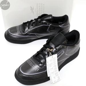 9 27cm 20AW Maison Margiela 22 Reebok Club C sneakers ブラック 新品 メゾン マルジェラ リーボック クラブ レザー スニーカー 黒