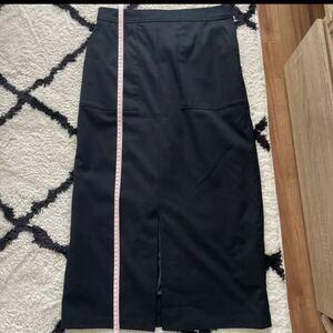 VIS タイトロングスカート 黒
