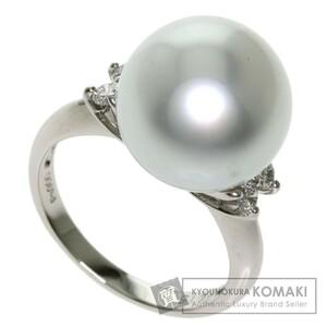 Jewelry pearl pearl ring / platinum