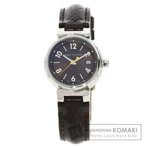 LOUIS VUITTON ルイヴィトン Q1211 タンブール 腕時計 ステンレススチール 革 レディース 中古品