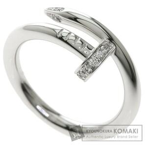 CARTIER カルティエ ジュストアンクル ダイヤモンド #58 リング・指輪 K18ホワイトゴールド ユニセックス 中古品