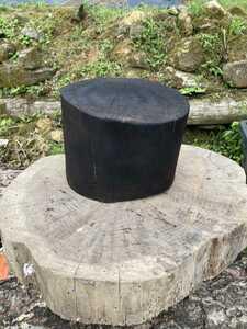 樫 薪割り台 バトニング用 焼き加工 20cm前後