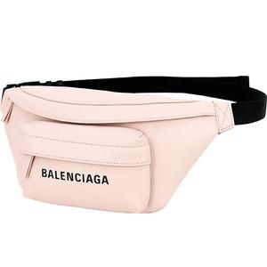 3871 新品 バレンシアガ ベルトバッグ XS ピンク ブラック レザー クロスボディバッグ ウエストポーチ レディース ショルダーバッグ ロゴ