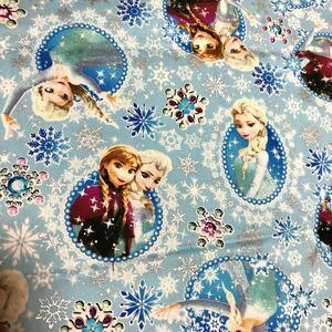 ディズニー アナと雪の女王 生地 ハギレ ブルー