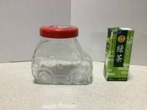 ミスタードーナッツ OSAMU HARADA ガラス容器 キャンディポット 自動車 クルマ ミスド オサムグッズ レトロ ポップ レア 希少 雑貨 置物