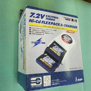 タイヨー 7.2ニッカドフレックスパック 充電器 セット TAIYO R/C Ni-Cd FLEXPACK ラジコン CR250R YZ250 ビートチェイサー2000 充電式電池