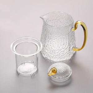 お茶ポット 直火可 ガラス 1000ML ティーポット 急須 やかん ガラスポット 耐熱ポット 茶こし パーブティー 紅茶 IH  茶道