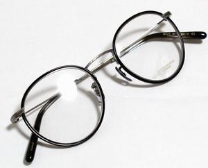 オリバーピープルズ OLIVER PEOPLES COLLOFF 5244 ボストン型 チタン 眼鏡/メガネ (ブラック×アンティークシルバー) 48/21 日本製 新品
