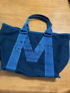 6800→5980→土日限定¥5555に値下げします★マークジェイコブス★デニム素材トートバッグ
