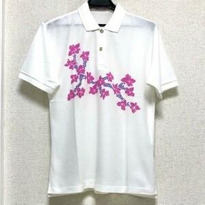 ★ 即決・送料無料 ★ 美品 Olympic club オリンピッククラブ 半袖 ポロシャツ L 白 ホワイト