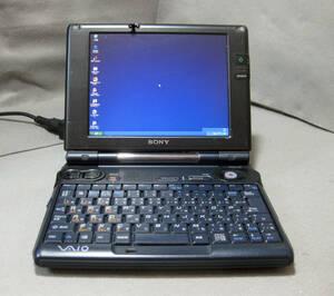 #809 レア 小型 Sony VAIO PCG-U3 WinXP