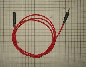 3.5㎜ステレオミニプラグ延長 モガミ2944 1.5M 赤色メッシュスリーブ REAN 金メッキミニプラグ クリックポスト送料込