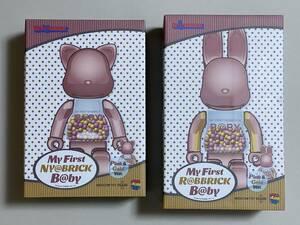 2種類セット ○MY FIRST NY@BRICK B@BY 100% & 400% PINK GOLD Ver. ○MY FIRST R@BBRICK B@BY 100% & 400% PINK GOLD Ver. 千秋