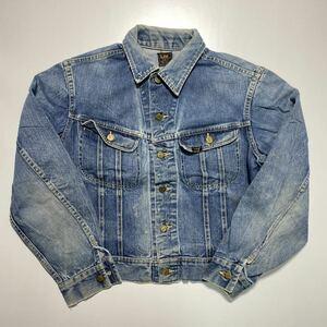 【42】70s Lee RIDERS 101-J Denim Jacket 70年代 リー ライダース 1010J デニム ジャケット USA製 四角黒タグ G818