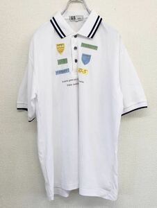 GS GARY SPORTS 半袖ゴルフシャツ ポロシャツ メンズ 2Lサイズ ホワイト 日本製 春夏モデル ビッグサイズ