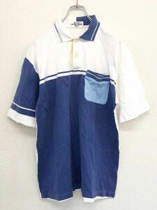 MUNSINGWEAR マンシングウェア 半袖ゴルフシャツ メンズ Lサイズ デサント 日本製 やや使用感あり