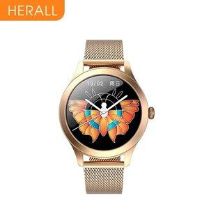 HERALL 2021ファッションスマート腕時計豪華な女性 腕時計ブレスレット血圧健康監視スマートウォッチANDROID IOS