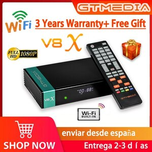 GTMEDIA-V8X衛星放送受信機,FREHD DVB-S2 P,H.265 GT,V8X,統合WI-FI,GTMEDIA V8 NOVA V9 SUPER,アプリなし,1080