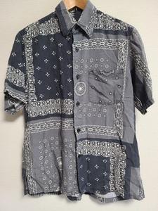 ボヘミアンズ Bohemians ペイズリー柄 バンダナ シャツ SHIRT 半袖 黒 総柄 日本製