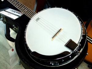 ARIA SB-10 5弦バンジョー ハードケース付き マイク搭載アンプに繋げる エレキバンジョー Banjo